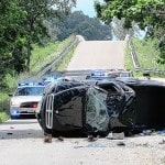 Two injured Tuesday in one vehicle crash
