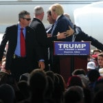 Pictures from today's Donald Trump rally at Dayton airport