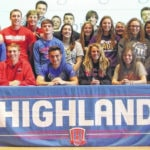 Four Highland athletes sign to compete in college