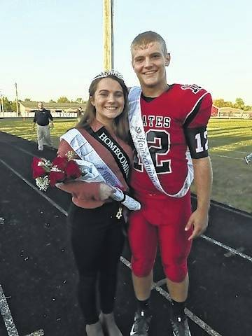 Pictured are the 2017 Cardington-Lincoln High School Homecoming King and Queen, Daniel Kill and Katelyn Denney. They were chosen Friday night.