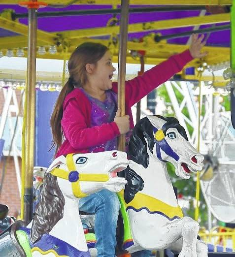 Galion Inquirer file photo Visitors to this weekend's Oktoberfest in downtown Galion will enjoy music, music and more music. Three stages will showcases different kinds of music from Thursday through Saturday evening. There will also be an art show, carnival rides and lots of food to sample.