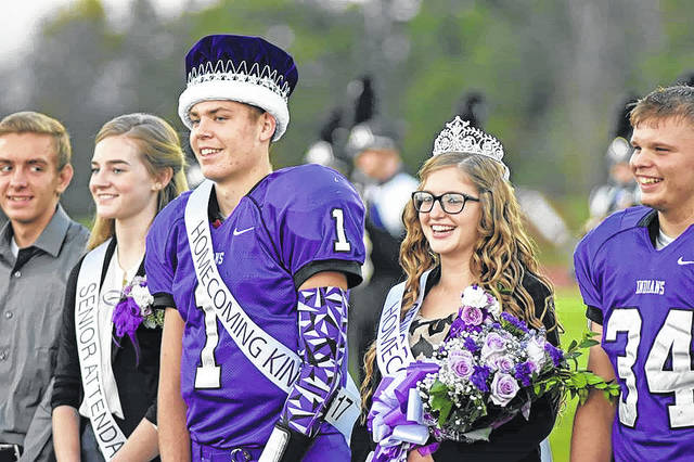 Seth Young was crowned Mount Gilead High School homecoming king and Molly Brooke queen during pre-game ceremonies Friday night.