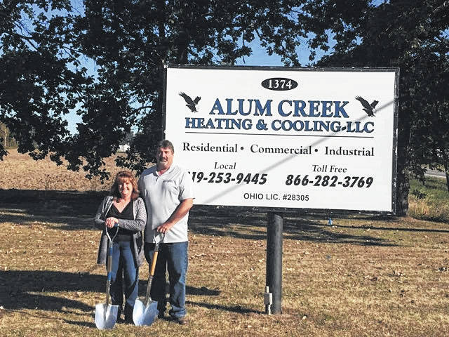 Alum Creek Heating & Cooling celebrated its planned administration and facility expansion with a ground breaking ceremony in Marengo.
