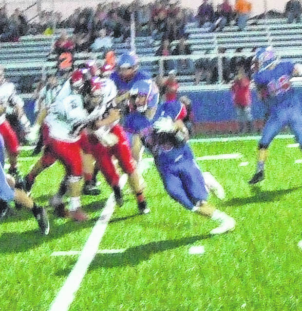 Josh Cantrell led a bevy of Highland running backs in their 62-10 win over Cardington Friday.