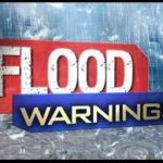 Flood warning in county; some roads under water