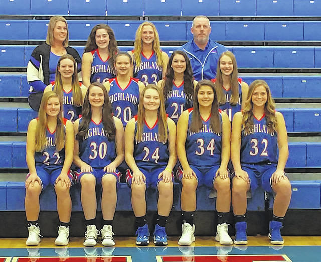 In the above picture is Highland's 2017-18 girls' basketball team.