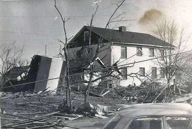 A tornado struck Westfield on Palm Sunday, April 11, 1965.