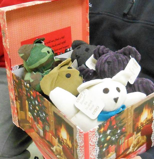 First responders will have these don't be scared bears for children facing a fearful or traumatic situation.
