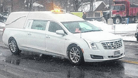 """Former Police Chief Robert D. """"Bob"""" Ruhl Sr. was laid to rest Monday. Ruhl, 72, died peacefully on Monday, January 8, 2018, at home following a courageous battle with cancer. He was 72 years old. A last ride was given to Ruhl Monday shortly after noon in downtown Mount Gilead. Community members gathered near the square in cold, snowy conditions. Full obituary on page 2."""