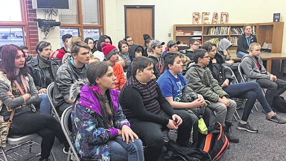 Students take part in a We Care Conference at The Tomorrow Center.