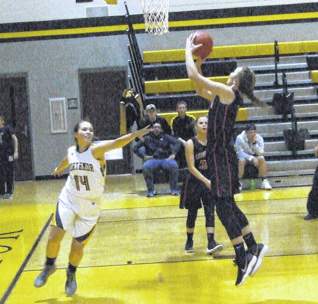 Cardington's Casey Bertke led the team Wednesday against Northmor with 18 points.