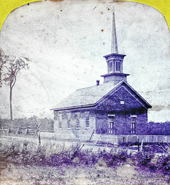 The St. John's Church is cropped from a Stereoview by J.B. Clark of Cardington.