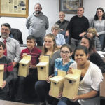 Students making bird houses