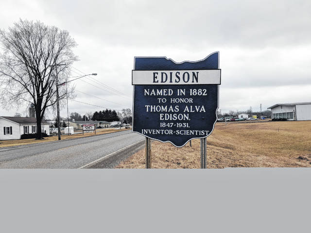 The Village of Edison historical signs on State Route 95 have been restored and painted by village employees this winter.