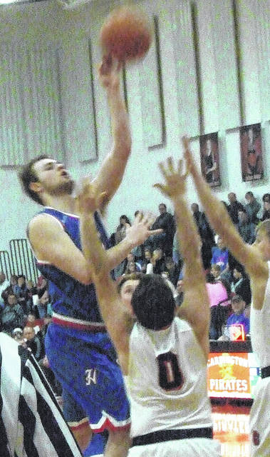 Highland's Kaleb Phillips tallied 19 points in his team's win at Cardington Friday.