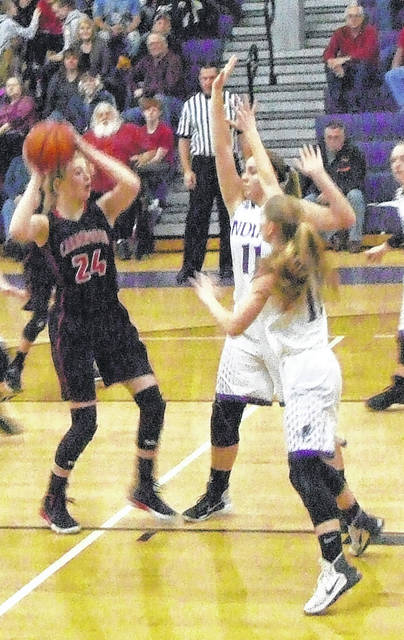 Cardington's Kyndall Spires tallied the 1000th point of her high school career Wednesday in her team's win at Mount Gilead.