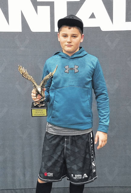 Ashton Clark, a member of the Mount Gilead Youth Wrestling program, won the 2018 Novice 125-pound state championship at OH WAY. He is a youth wrestler at Buckeye Fitness and is coached by Roc Castricone.
