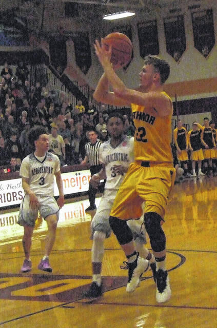 Brock Pletcher led Northmor with 19 points in their Tuesday night battle with Africentric.
