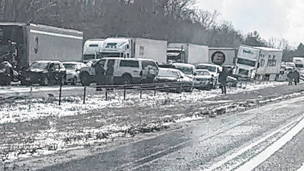 Dozen of vehicles reported in pileup on Interstate-71