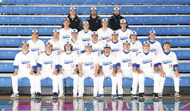 Highland's 2018 baseball team is pictured above.