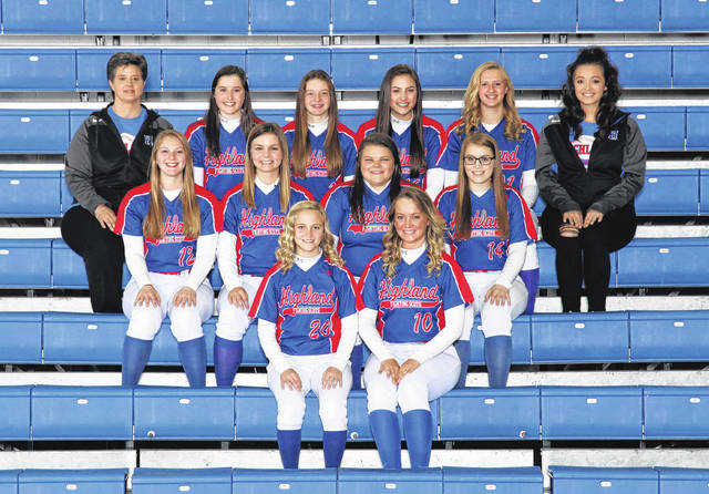 Pictured above is Highland's softball team for this spring.