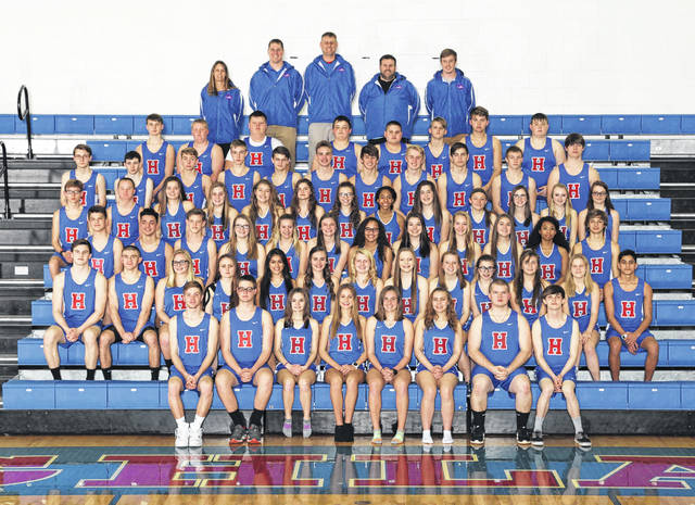 Highland's boys' and girls' track teams are in the above picture.