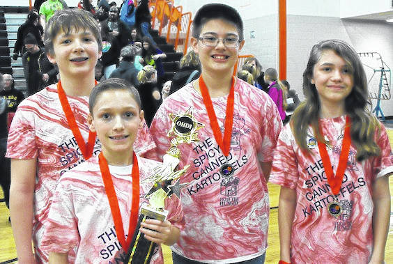 Destination Imagination Team 2018 Mt Gilead members, from left, are Joel Conrad, Collin Gabriel, Samuel Baer and Samantha Kemen.
