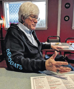 Albertson answers questions from Democrat women