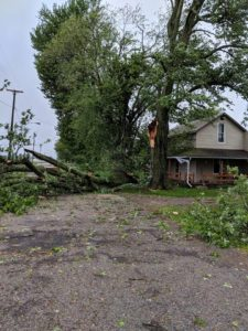Storm Damage, Flooding Monday in Climax, Iberia