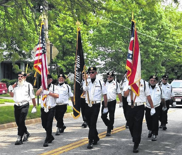 Color Guard at Monday's Memorial Day Parade in Mount Gilead. More on the service and parade in the June 6 edition.