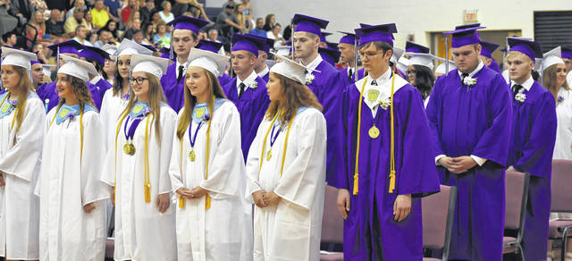 Mount Gilead High School held commencement exercises Saturday. More photos online at morrowcountysentinel.com and look for a special salute to all county school graduates June 20.