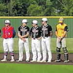 Local players in Central District baseball game