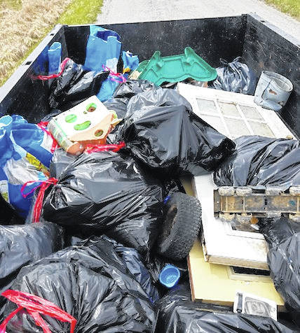 Example of material littered along the roadways in Morrow County that was picked up during the 2018 Trash Bash.