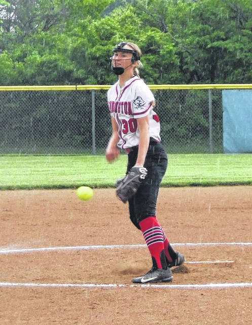 Cardington pitcher Casey Bertke was named the Player of the Year in the KMAC and also was tabbed as a first-team All-Ohioan in Division III softball for her efforts during her sophomore season.