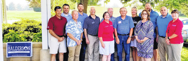 Morrow County Republican's held their annual picnic at Pine Lakes Golf Course and restaurant on Sunday, July 15. The guest speaker was Senator Troy Balderson, who is running for U.S Congressman for the 12th district, previously held by Pat Tiberi. Pictured, from left: Troy Balderson, Andrew King, Judge Robert Hickson, State Representative Riordan McClain, Judge Craig Baldwin, Recorder Dixie Shinaberry, Commissioner Warren Davis, Dan Osborne, Treasurer Kim Bood, Judge Jennifer Burnaugh, County Engineer Bart Dennison, Sheriff John Hinton and County Auditor Pat Davies.