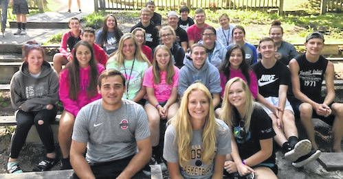 Cardington FFA members at Camp Muskingum.