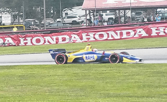 Alexander Rossi picked up the win at Mid-Ohio Sunday in the Honda Indy 200, leading the majority of laps in the race.