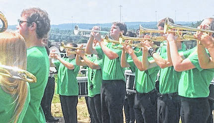 The Clear Fork High School band performed patriotic music before and during the ceremony.