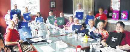 Pictured are members of Chester Arbor of the Gleaners Fraternal Insurance Society during their recent meeting at the Edison Depot.