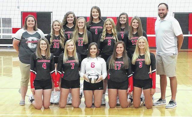The Cardington volleyball team for the 2018 season is pictured above.