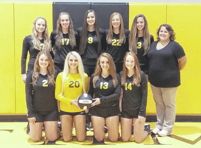 Northmor's volleyball team for this year is in the above picture.