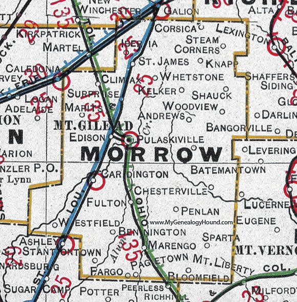 Marengo Ohio Map.Surprise One Of Many Ghost Towns Morrow County Sentinel